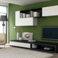 стінка у вітальні модульна в сучасному стилі фото 6