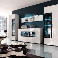стінка у вітальні модульна в сучасному стилі фото 24