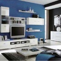 стінка у вітальні модульна в сучасному стилі фото 13