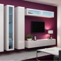 стінка у вітальні модульна в сучасному стилі фото 18