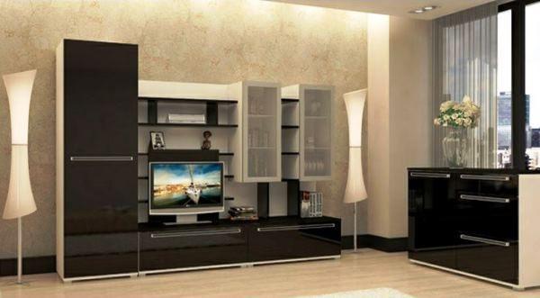 модульні вітальні в сучасному стилі фото