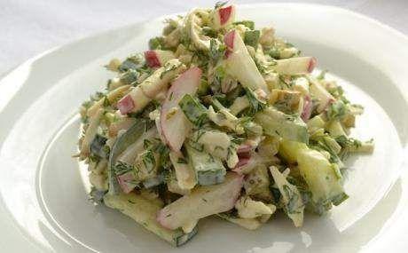 Сирний салат з редискою