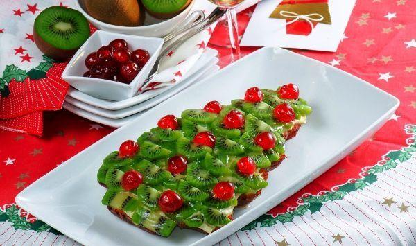Прикраса фруктових десертів до святкового столу фото