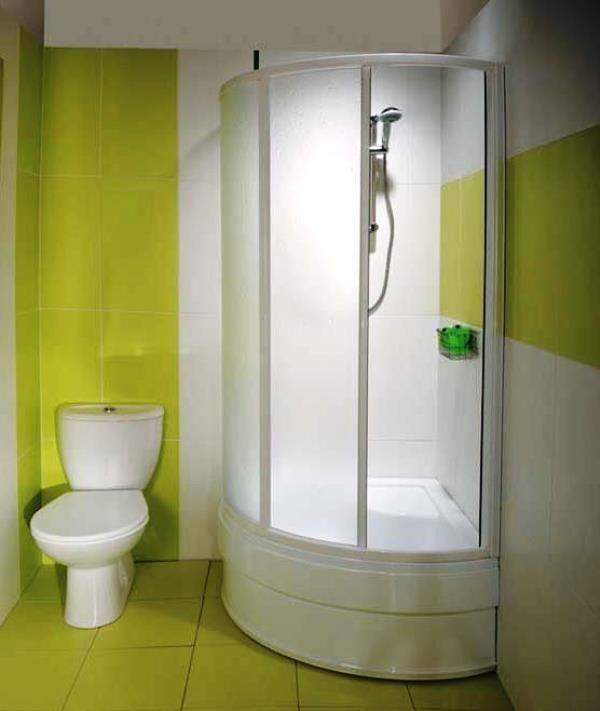 душова кабіна в маленькій ванній кімнаті фото ціни