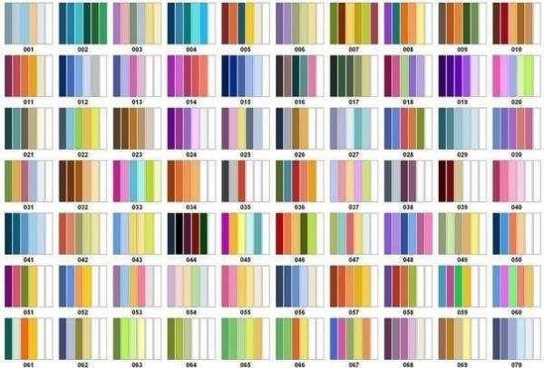 Варіанти поєднання кольорів