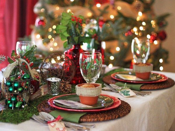 прикраса новорічного столу фото 5